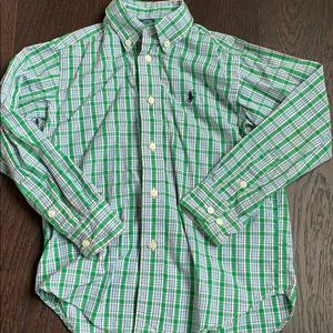 Ralph Lauren Green Plaid Button Down